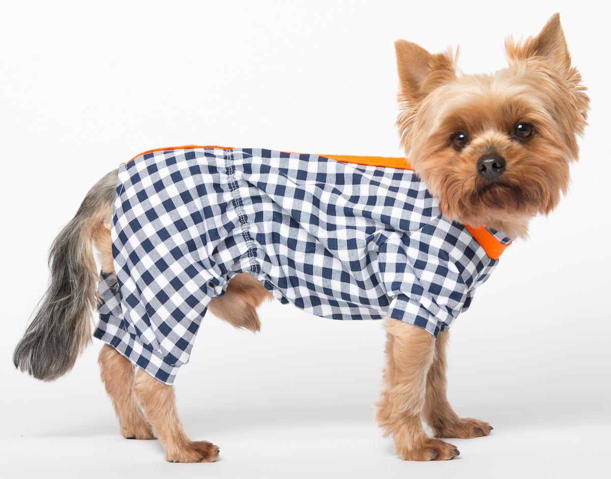Комбинезон для собак Yoriki Школьный, унисекс. Размер XL кепка для собак yoriki плащевка цветная размер универсальный