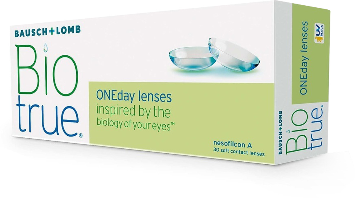 Bausch + Lomb контактные линзы Biotrue ONEday / 8.6 / -5.7539508Мягкие контактные линзыКонтактные линзы или очки: советы офтальмологов. Статья OZON Гид