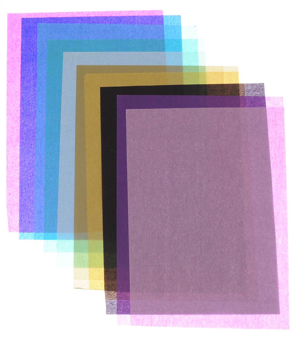 Апплика Калька цветная Котенок и букет 10 листов