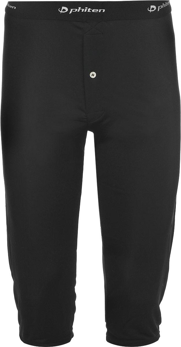 Термобелье шорты мужские Phiten Raku Steteco, цвет: черный. JG068005. Размер L (42/48)JG06800Мужские шорты Phiten Raku Steteco идеально подойдут для холодной погоды. Инновационный материал позволяет отводить влагу и сохранять тепло при помощи тончайшего слоя воздуха, который сдержится в структуре ткани. Содержание Акватитана улучшает кровообращение, что способствует дополнительному согревающему эффекту.Удлиненные шорты на талии дополнены широкой эластичной резинкой, оформленной надписями с названием бренда. Модель имеет ширинку на застежке-пуговице.Шорты Phiten станут отличным дополнением к вашему гардеробу!