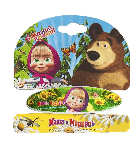 Маша и медведь Заколка-автомат Подсолнухи329052Заколка-автомат для волос Маша и медведь Подсолнухи подчеркнет красоту прически вашей малышки. Заколочка выполнена из металла и ПВХ, и оформлена декоративным элементом с изображением Маши, героини популярного мультсериала Маша и медведь.