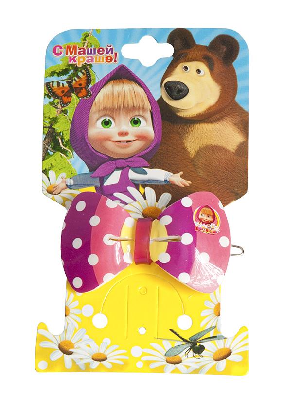 Маша и медведь Заколка Бант полосатый