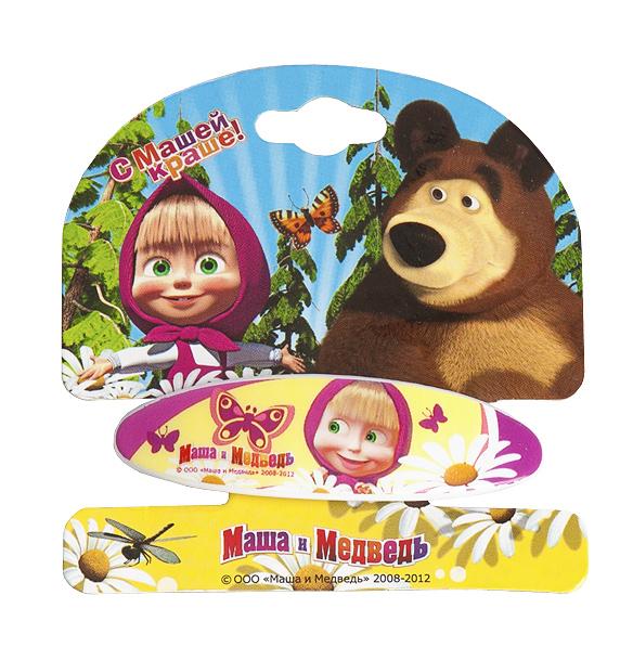 Маша и медведь Заколка-автомат Ромашки заколки автомат clara bijoux заколка