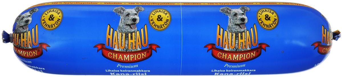 Колбаса для собак Hau-Hau, из курицы с рисом, 800 г hau hau champion купить в мурманске