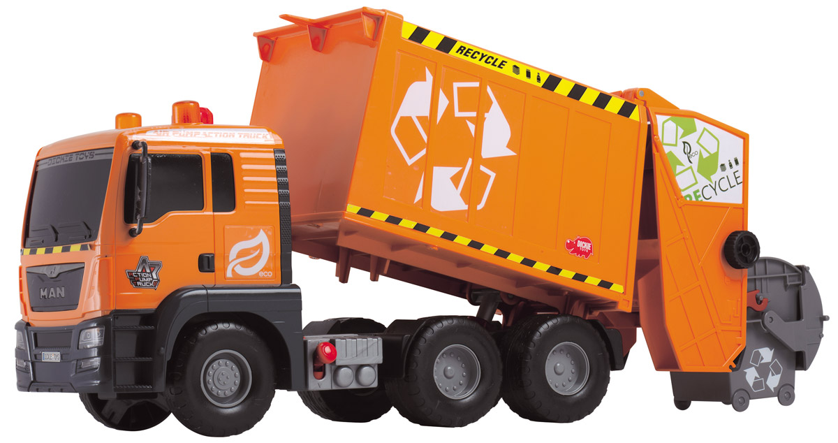 Dickie Toys Мусоровоз MAN с подъемным механизмом dickie мусоровоз 30 см