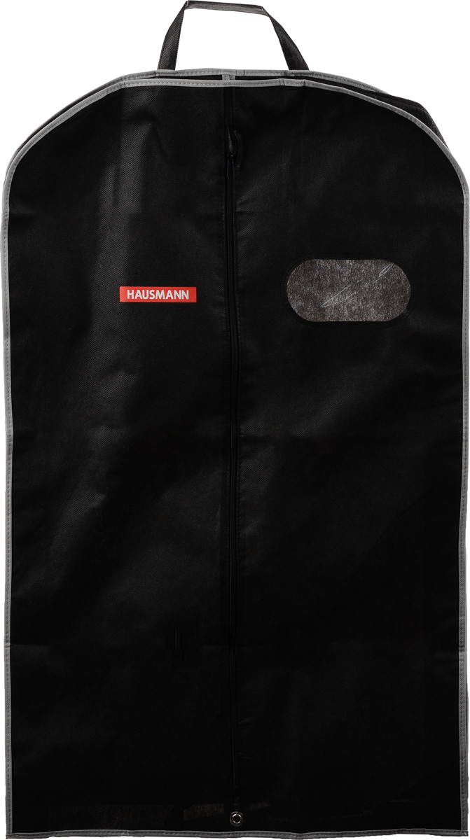"""Фото Чехол для одежды """"Hausmann"""", подвесной, с прозрачной вставкой, цвет: черный, 60 х 100 х 10 см"""