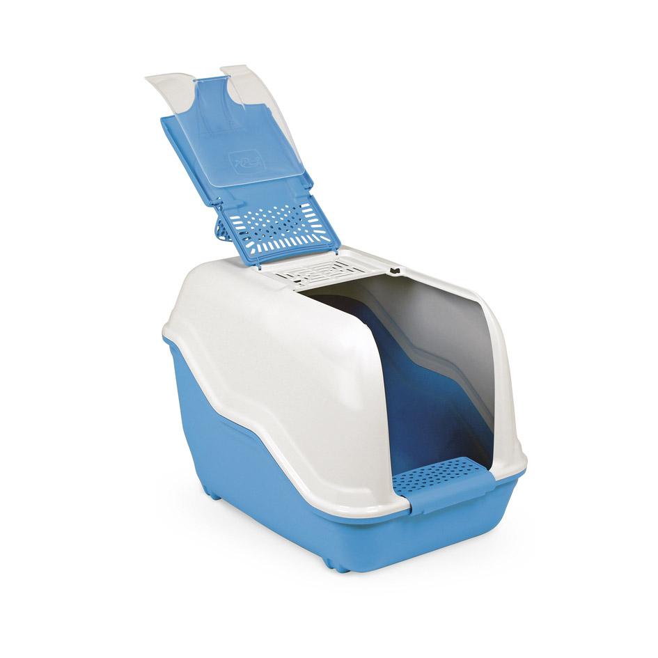 Био-туалет для животных MPS Netta, с совком, цвет: голубой, белый, 54 х 39 х 40 смS07110103Пластиковый био-туалет поможет защитить дом от неприятных запахов и придется по нраву даже самым привередливым питомцам.В отличие от обычных лотков био-туалет MPS Netta имеет специальный фильтр, который быстро нейтрализует неприятные запахи, дверцу, через которую питомец легко попадает внутрь, а также совок для уборки. Совок удобно закреплен на внутренней стороне крыши туалета. Специальный широкий бортик, на который питомец может вставать, поможет сохранить его лапки чистыми и сухими. А наличие ручки облегает процесс транспортировки. На крыше туалета имеется отсек, через который удобно проводить уборку туалета. Легко собирается и разбирается. Предназначен для содержания кошек и небольших собак. С био-туалетом MPS Netta ваш питомец всегда будет чувствовать себя комфортно, а вам больше не придется по несколько раз в день убирать лоток. Фильтра хватает надолго!Длина совка: 27 см.Размер фильтра: 13 х 10 см.