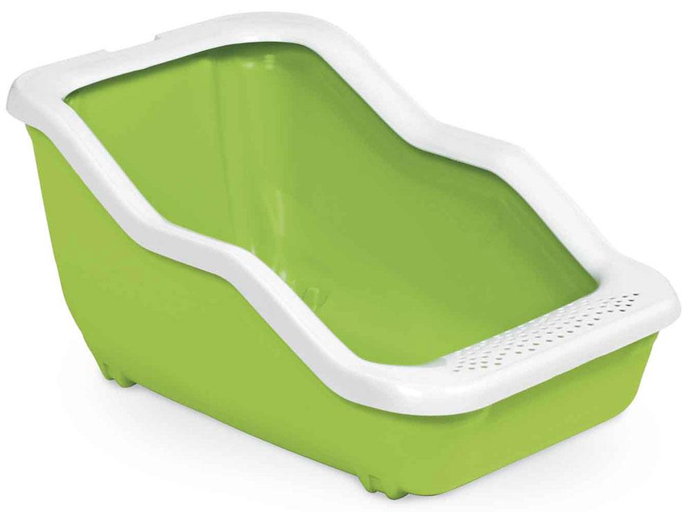 Туалет-лоток для животных MPS Netta Open, с рамкой, цвет: салатовый, 54 х 39 х 29 см mps mps hydra mini туалет лоток 43х31х12h см с рамкой