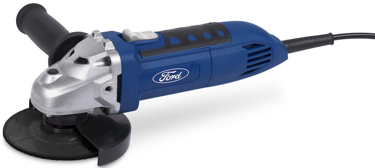 Угловая шлифмашина Ford FE1-2010000000168Угловая шлифовальная машина Ford FE1-20 предназначена для шлифовки поверхностей, а также обдирки и резки изделий из твердых материалов. Инструмент оснащен двигателем мощностью 600 Вт. Рабочим элементом машины является диск диаметром 115 мм.Компактность инструмента позволяет использовать его для работы в труднодоступных местах. Машина работает от стандартной электросети с напряжением 220 В. Длинный сетевой кабель обеспечивает простор в движении.Шлифмашина выполнена в прочном корпусе и удобна в использовании. В комплект входит дополнительная рукоятка, которая может быть выставлена в двух позициях. Эргономичная рукоятка и прорезиненные вставки на корпусе обеспечивают надежный захват инструмента. Для дополнительной безопасности при работе с инструментом предусмотрен защитный кожух, который препятствует попаданию искр и пыли на пользователя во время работы.Особенности: 1. Блокировка кнопки включения. 2. Двухпозиционная установки дополнительной ручки. 3. Защитный кожух. Комплектация: 1. Инструмент (УШМ). 2. Дополнительная рукоятка. 3. Ключ. 4. Руководство пользователя.