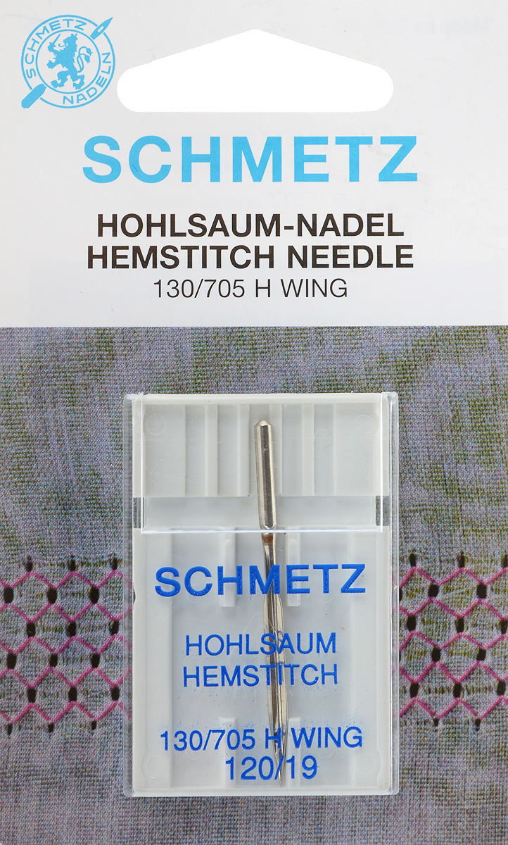 Игла Schmetz для машинной вышивки в технике мережка, №12022:20.2.SGSСпециальная игла Schmetz, выполненная из никеля, подходит для бытовых вышивальных машин всех марок. Игла предназначена для выполнения вышивки в технике мережка на велюре. Имеет цветовой код.В комплекте пластиковый футляр для переноски и хранения.Система иглы: 130/705 H WING.Номер иглы: 120/19.