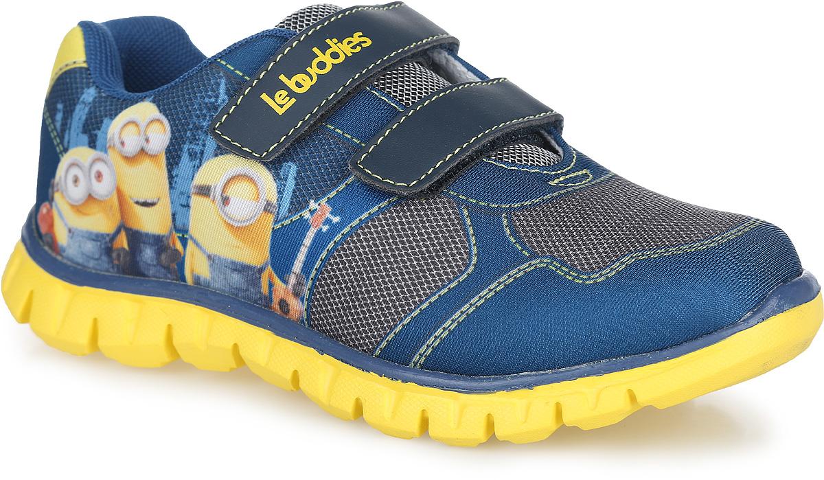 Кроссовки для мальчика Mursu Minions, цвет: синий. DE001153. Размер 32DE001153Стильные кроссовки Minions от Mursu придутся по душе вашему мальчику. Модель, выполненная из текстиля и искусственной кожи, оформлена оригинальным принтом, сбоку - изображением героев мультфильма Minions. Ремешки с застежками-липучками обеспечат надежную фиксацию модели на ноге. Стелька из ЭВА материала с текстильной поверхностью гарантирует комфорт при движении. Подошва с рифлением обеспечивает идеальное сцепление с любой поверхностью. Оригинальные кроссовки - незаменимая вещь в гардеробе каждого мальчика!