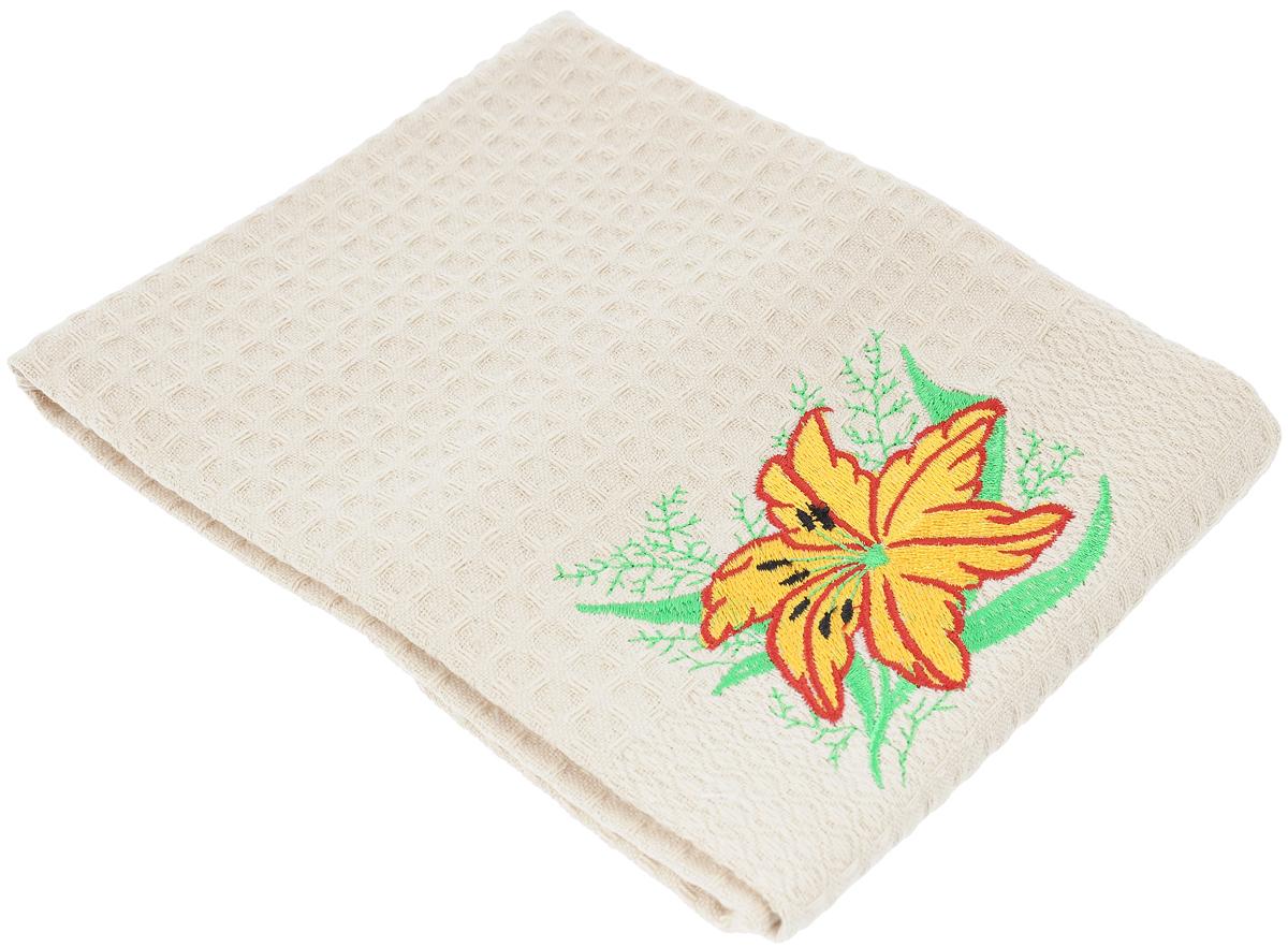 Полотенце кухонное Soavita Цветок, 40 х 60 см. 48802 полотенце кухонное soavita цвет коралловый диаметр 65 см 48800