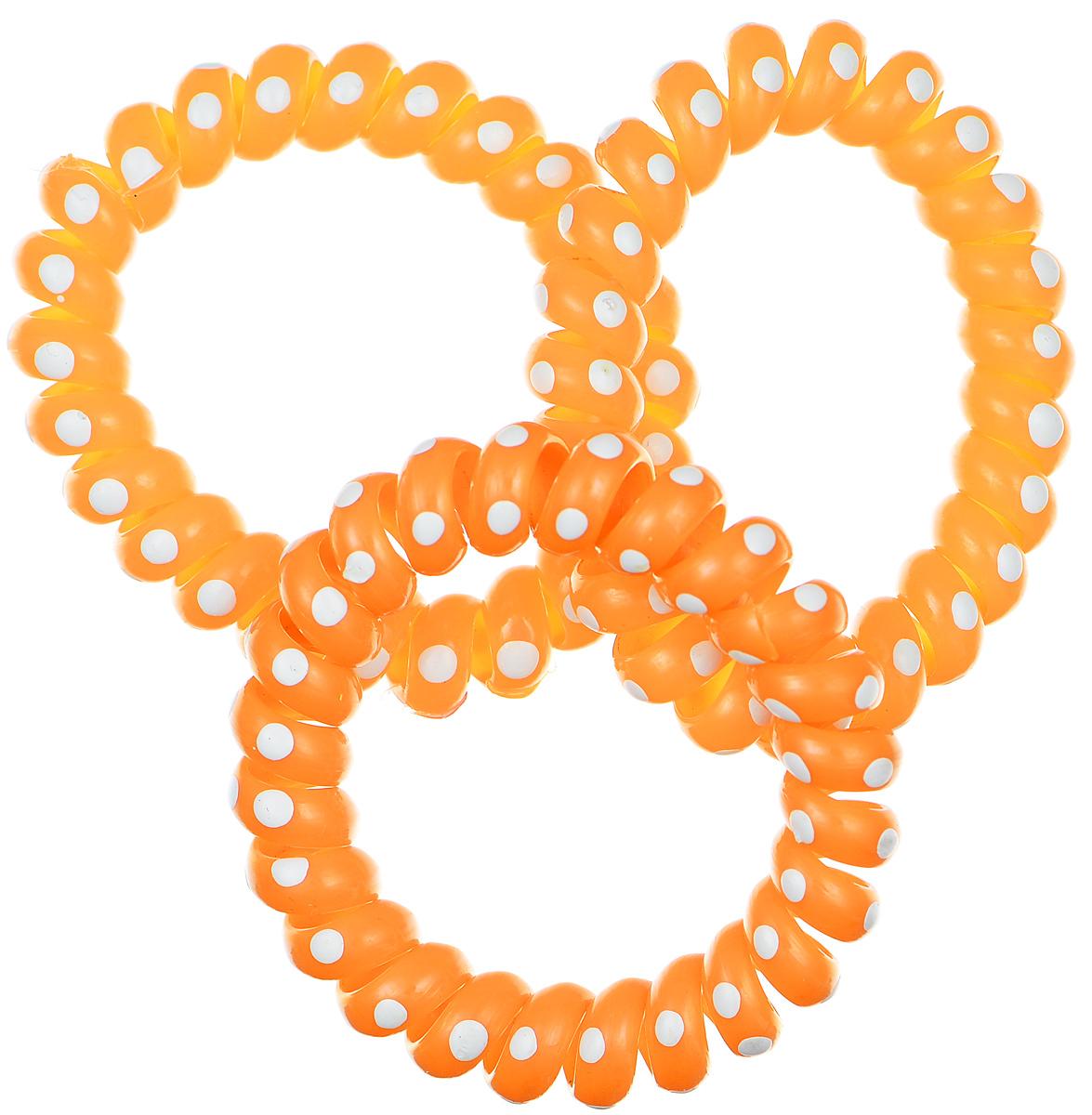 Резинка-браслетдляволос Mitya Veselkov, цвет: оранжевый, 3 шт. REZ2-LORAREZ2-LORAЯркие резинки-браслеты Mitya Veselkov выполнены из качественной резины и оформлены принтом в горошек. Столь необычная форма резинок дает множество преимуществ. Резинка не оставляет заломов на волосах. При длительном ношении, снимая ее, вы не почувствуете усталость волос.Оригинально смотрится на волосах. Отлично сохраняет свою форму и надежно фиксирует прическу. Не мокнет. Не травмирует волосы. В отличие от обычных резинок, нет трения, зажимов отдельных волосков или прядей.Также их можно использовать как стильные браслеты.