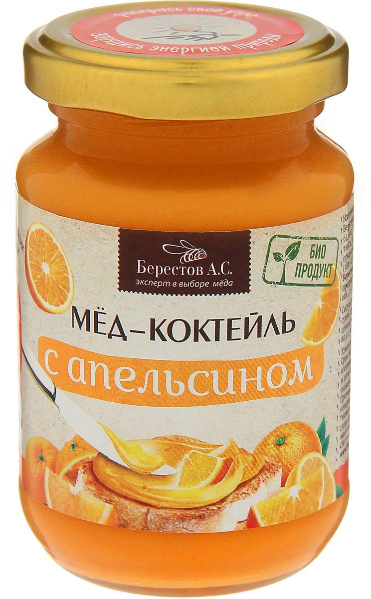 Берестов Мед-коктейль с апельсином, 210 г берестов мед коктейль с малиной 450 г