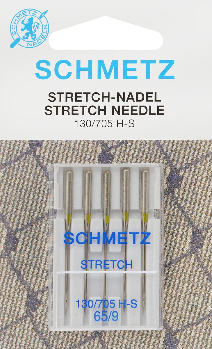 """Иглы для бытовых швейных машин """"Schmetz"""", для трикотажа, №65, 5 шт"""