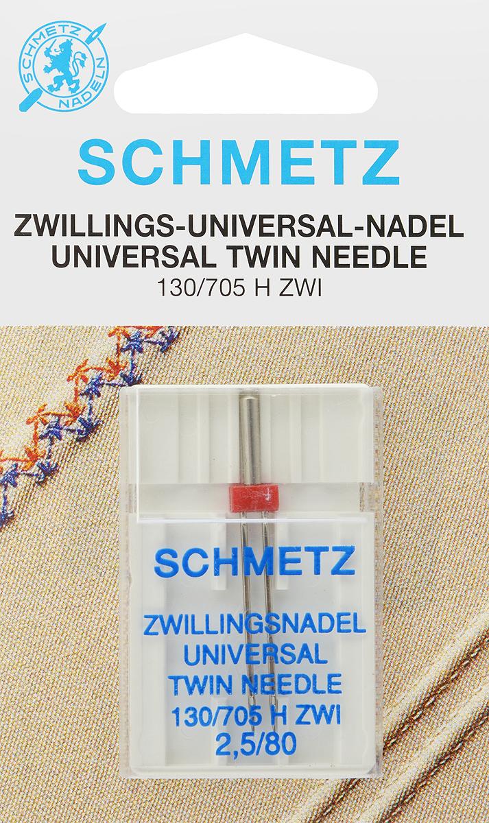 Игла для бытовых швейных машин Schmetz, универсальная, двойная, №80, 2,5 мм70:25.2.SCSУниверсальная двойная игла Schmetz, выполненная из никеля, подходит для бытовых швейных машин всех марок. Она предназначена для декоративной отделки и выполнения защипов на всех тканых материалах, а также для подшивания низа изделий из трикотажа.В комплекте пластиковый футляр для переноски и хранения.Система иглы: 130/705 H ZWI.Номер иглы: 80.Расстояние между иглами: 2,5 мм.