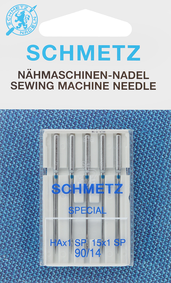 """Иглы для бытовых швейных машин """"Schmetz"""", для трикотажа, №90, 5 шт"""