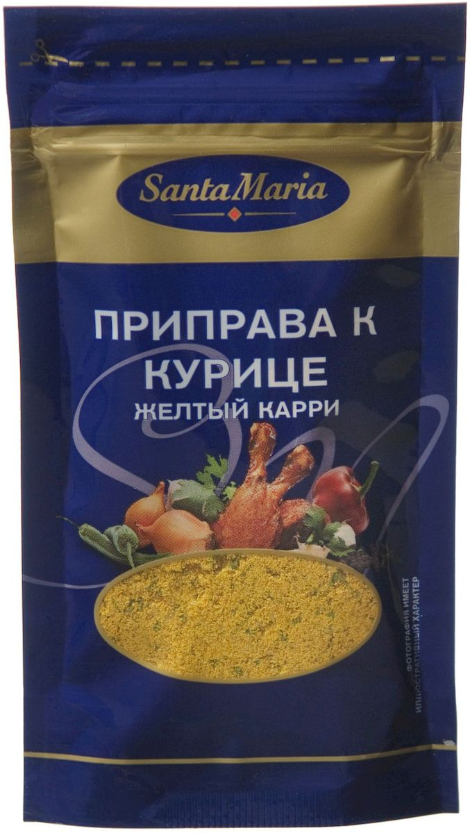 Santa Maria Приправа к курице желтый карри, 24 г приправа santa maria для картофеля
