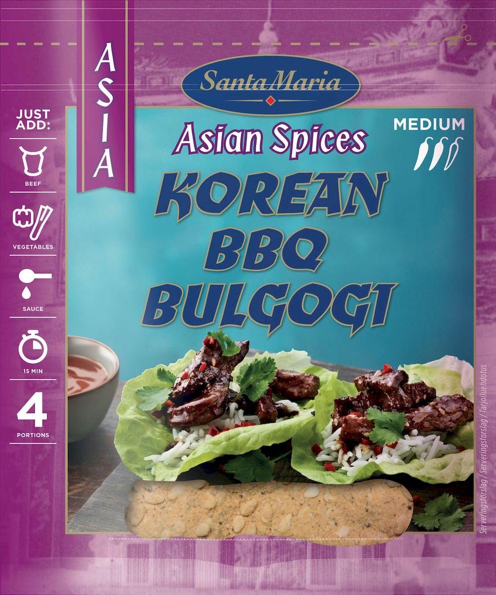 Santa Maria Смесь специй для барбекю по-корейски, 35 г santa maria ароматная смесь чили перцев 70 г
