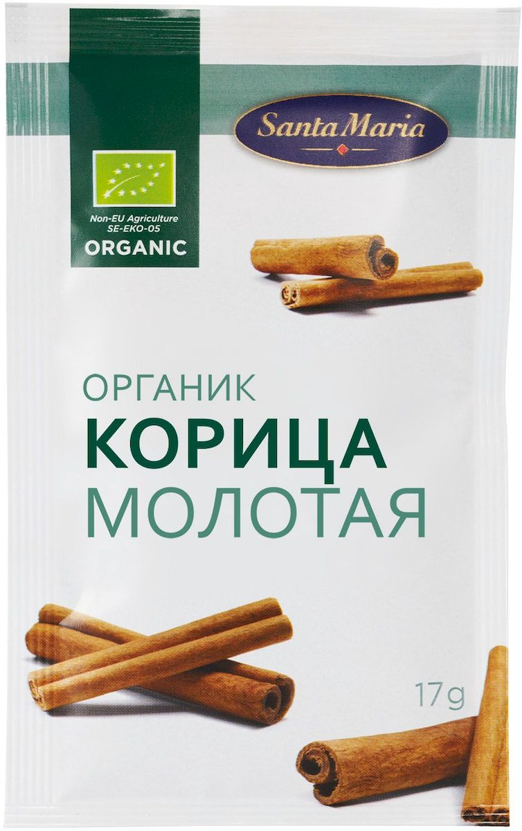 Santa Maria Корица молотая Органик, 17 г bulk save santa cruz organic mint chocolate syrup 12 to 48 packs each 15 5oz