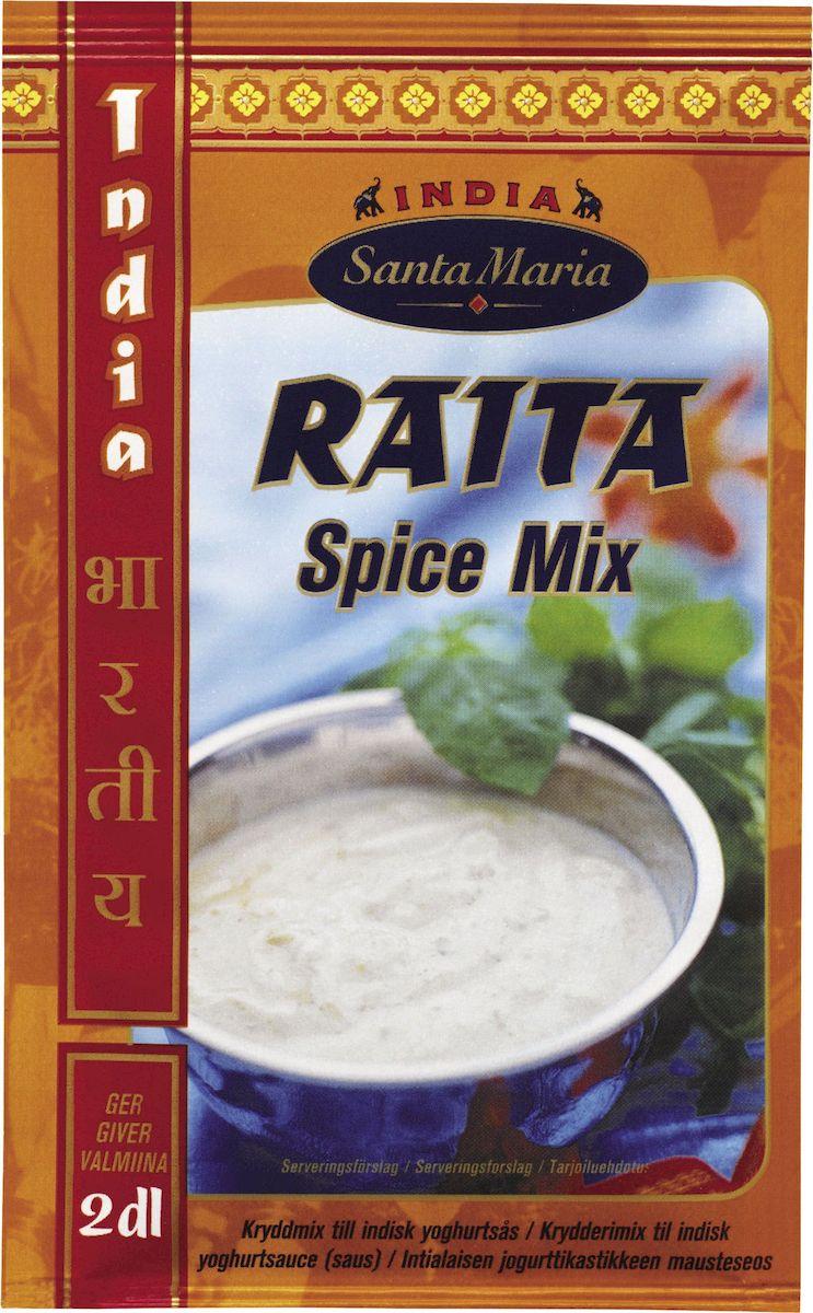 Santa Maria Смесь для соуса Райта, 8 г3509Смесь специй Santa Maria для приготовления соусов из сметаны или йогурта. Соусы из йогурта подают к любым индийским блюдам для смягчения пряного вкуса пищи.