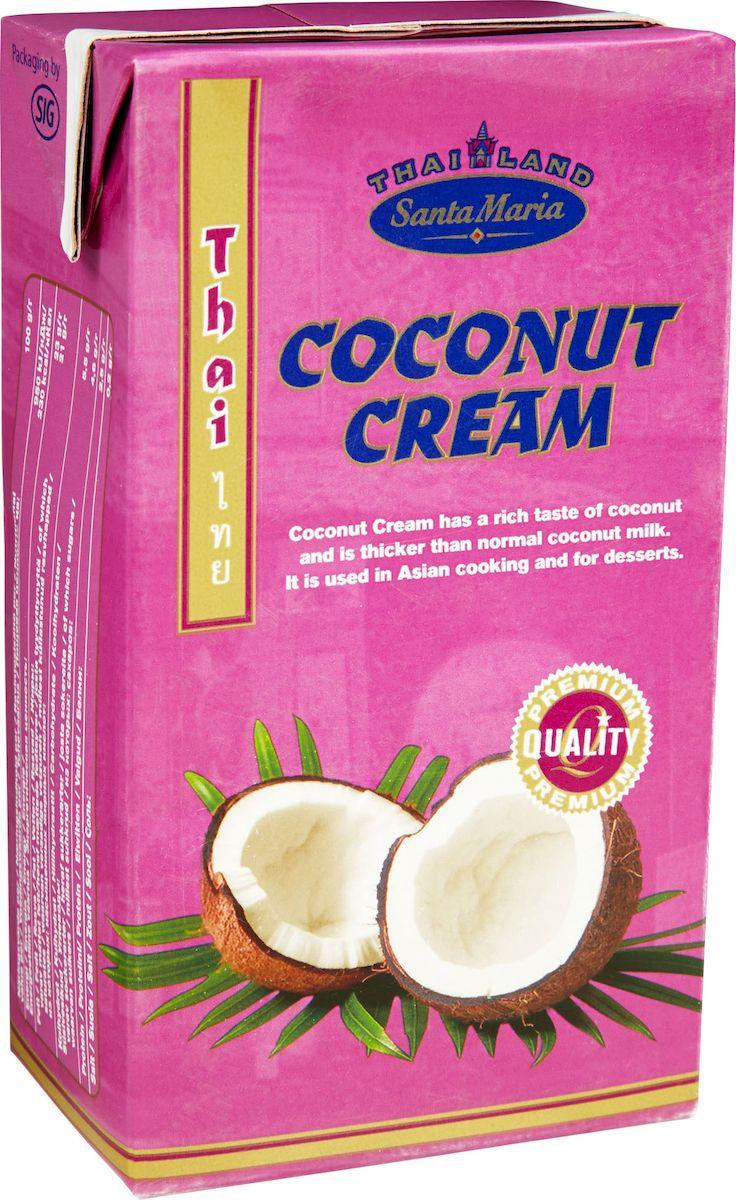 Santa Maria Густые кокосовые сливки, 1 л белый город сливки стерилизованные 33% 0 2 л