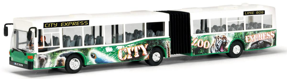 Dickie Toys Автобус-экспресс цвет белый зеленый dickie toys городской трамвай