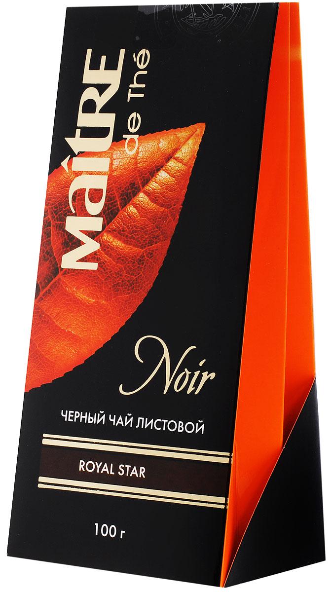 Maitre Royal Star черный листовой чай, 100 г 2005 чай ассам хармутти оптом