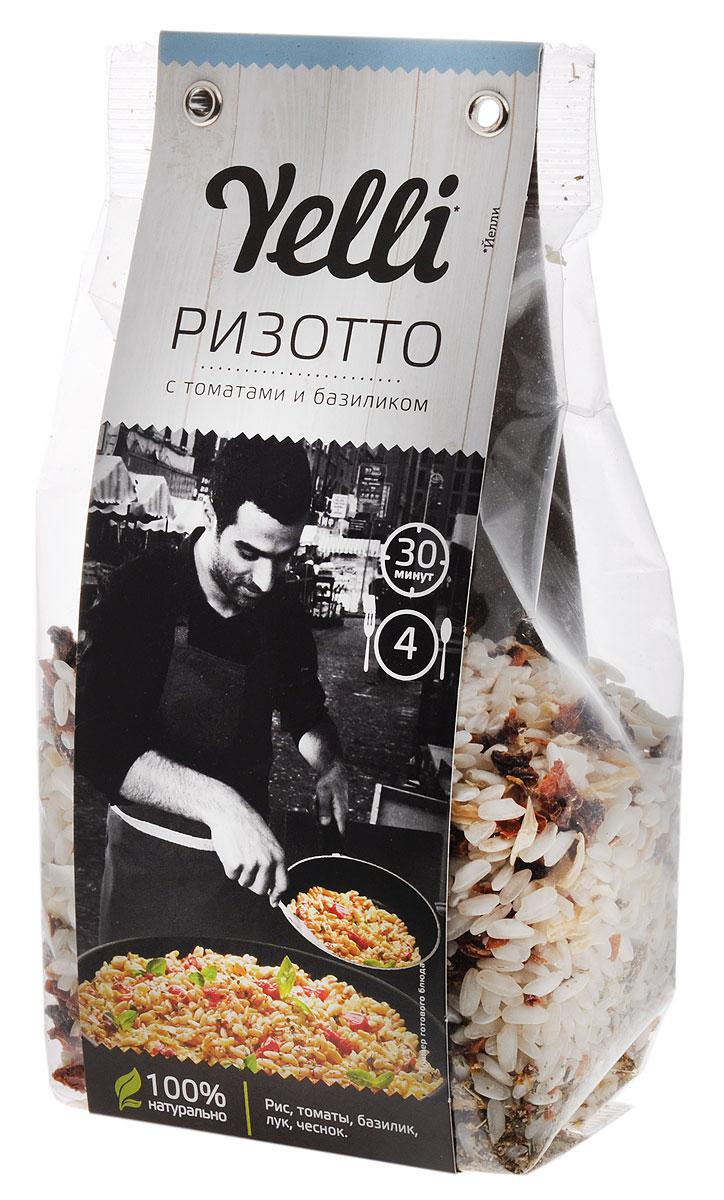Yelli ризотто с томатами и базиликом, 250 гЕЛ 119/7Базилик – излюбленная приправа итальянских кулинаров, а томаты с базиликом – популярнейшее сочетание в блюдах итальянской кухни. Ризотто с томатами и базиликом по итальянскому рецепту сочетает в себе изысканный вкус и простоту приготовления.