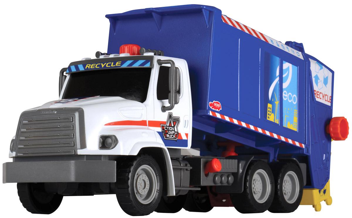 Dickie Toys Мусоровоз Freightliner с подъемным механизмом dickie мусоровоз 30 см