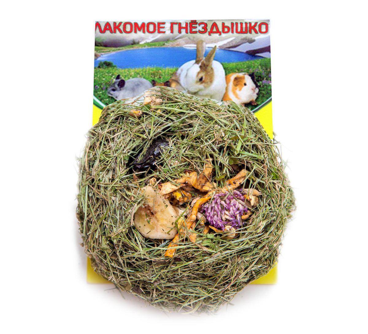 Лакомство для грызунов Престиж Лакомое гнездышко, с фруктами, овощами, орехами4627092860549Лакомое гнездышко для грызунов от компании Престиж - изготавливается из сена Люкс Премиум класса, в состав которого, входит люцерна, клевер, листва одуванчика и разнотравье. Лакомое гнездышко наполняется сушеными цветами, орехами и травяными гранулами. В лакомстве сохранены витамины и микроэлементы, так необходимые для правильного развития и здоровья домашних грызунов. Разнообразное наполнение лакомства удаляет голод питомцев, а жесткие составляющие улучшают уход за зубами.Состав: зеленое сено Люкс Премиум класса, банан, полезные цветы, боярышник, сушеные овощи и фрукты, арахис.Товар сертифицирован.