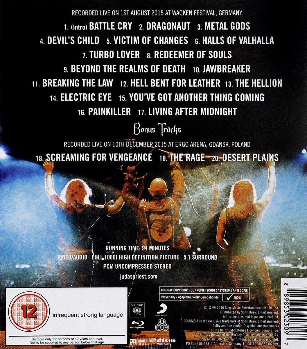 Judas Priest:  Battlecry (Blu-ray) Sony Music Entertainment, Inc.