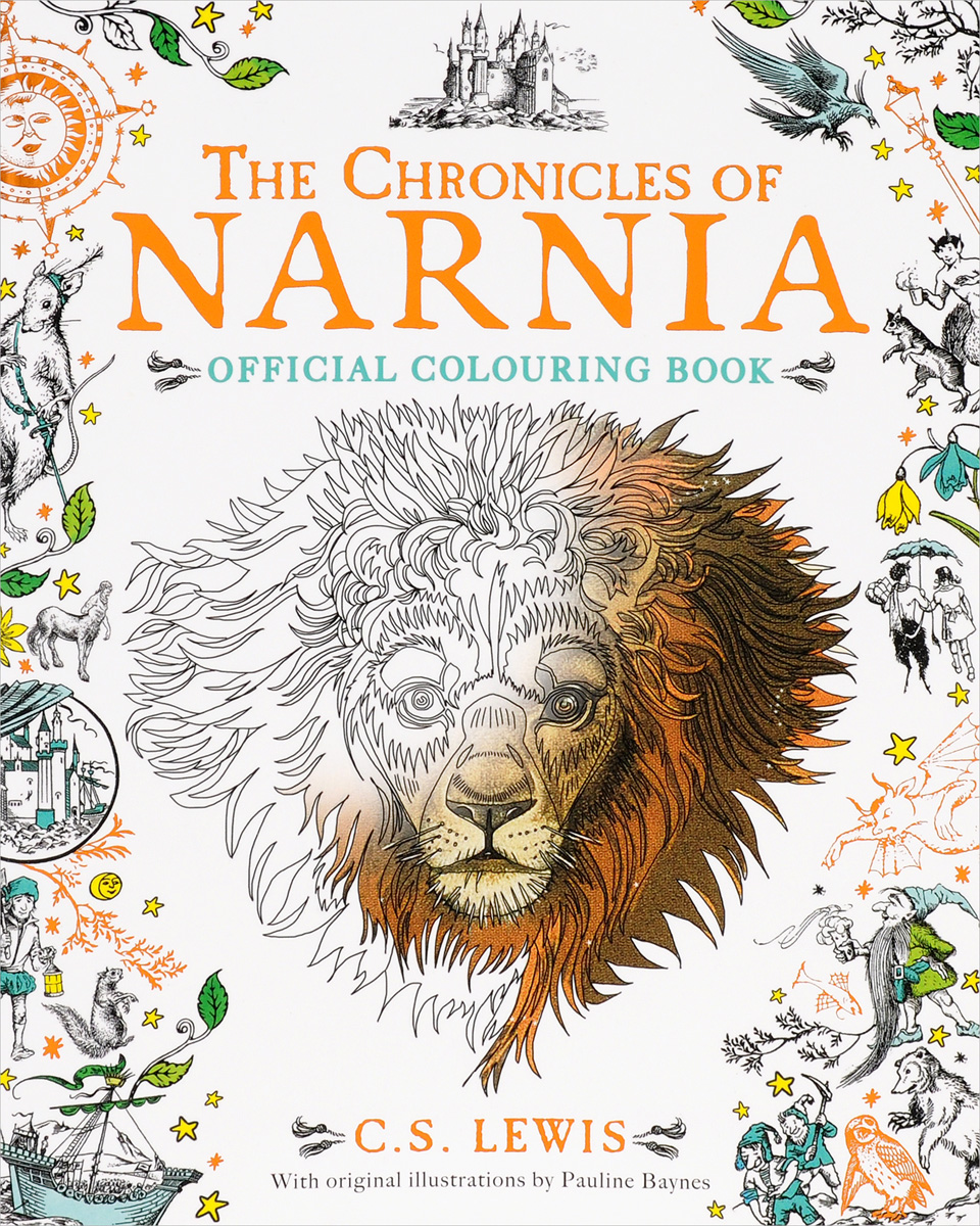 The Chronicles of Narnia: Colouring Book santa sticker and colouring book