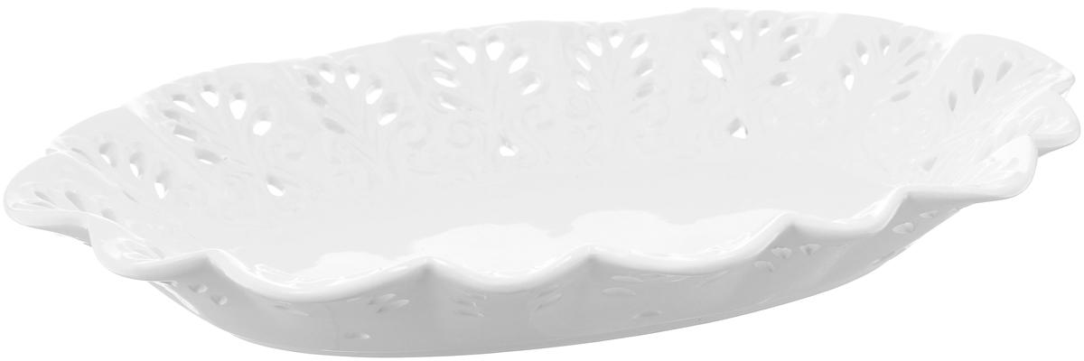 Блюдо Loraine Ажур, 31,5 х 21 см7001-MRОвальное блюдо Loraine Ажур, украшенное оригинальным ажурным узором, удачно дополнит ваш интерьер. Изделие выполнено из доломита. Стильная форма и интересное исполнение идеально впишутся в любой стиль, а универсальный цвет подойдет к любой мебели. Такое блюдо принесет новизну в вашу кухню и приятно порадует глаз.