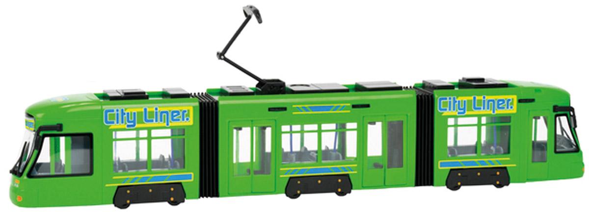 Dickie Toys Трамвай City Liner цвет салатовый dickie toys городской трамвай