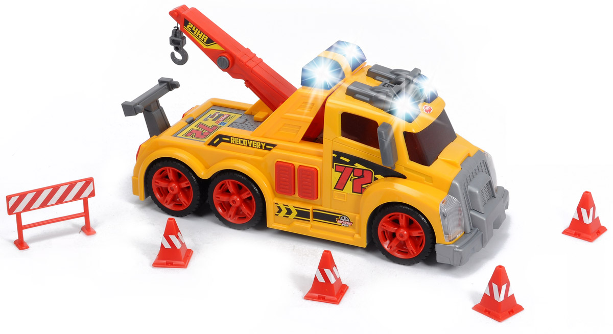 Dickie Toys Эвакуатор цвет желтый мюзикл две стрелы