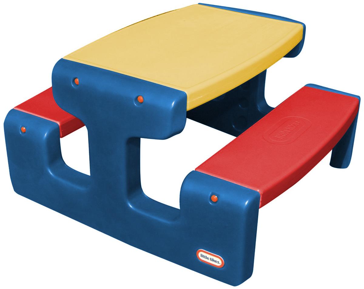 Little Tikes Большой стол для пикника цвет синий желтый красный - Игры на открытом воздухе
