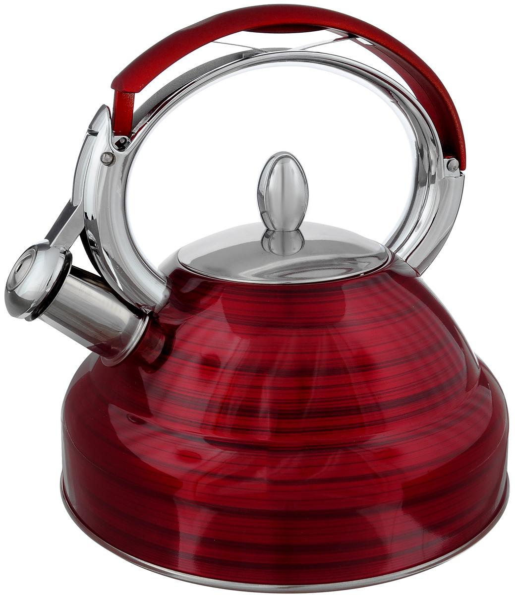 Чайник Mayer & Boch, со свистком, цвет: красный, 2,7 л. 2320523205Чайник Mayer & Boch выполнен из высококачественной нержавеющей стали, что делает его весьма гигиеничным и устойчивым к износу при длительном использовании. Носик чайника оснащен насадкой-свистком, что позволит вам контролировать процесс подогрева или кипячения воды. Фиксированная ручка, изготовленная из нейлона и цинка, дает дополнительное удобство при разлитии напитка. Поверхность чайника гладкая, что облегчает уход за ним. Эстетичный и функциональный, с эксклюзивным дизайном, чайник будет оригинально смотреться в любом интерьере.Подходит для всех типов плит, включая индукционные. Можно мыть в посудомоечной машине.Высота чайника (без учета ручки и крышки): 11,5 см.Высота чайника (с учетом ручки и крышки): 24 см.Диаметр чайника (по верхнему краю): 10 см.