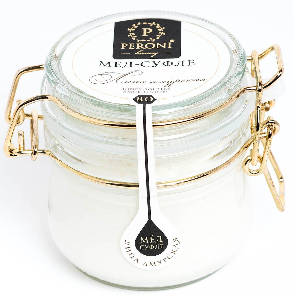 Peroni Липа амурская мед-суфле, 230 г382955Вкус меда Peroni Липа амурская довольно острый, магически-сладкий. Первые ноты фруктовой свежести сменяются интенсивной атакой липовой сладости и крем-брюле. Послевкусие долгое, легкое, пикантно-цветочное. Этот мед удивляет нежнейшим ароматом весенних цветов, пыльцы, молочной карамели, ванили. Текстура меда представляет собой воздушное шелковистое суфле, которое обволакивает и завораживает, согревает и бодрит!Для получения меда-суфле используются специальные технологии. Мед долго вымешивается при определенной скорости, после чего его выдерживают при температуре 12-14°C, тем самым закрепляя его нужную консистенцию. Все полезные свойства меда при этом сохраняются.