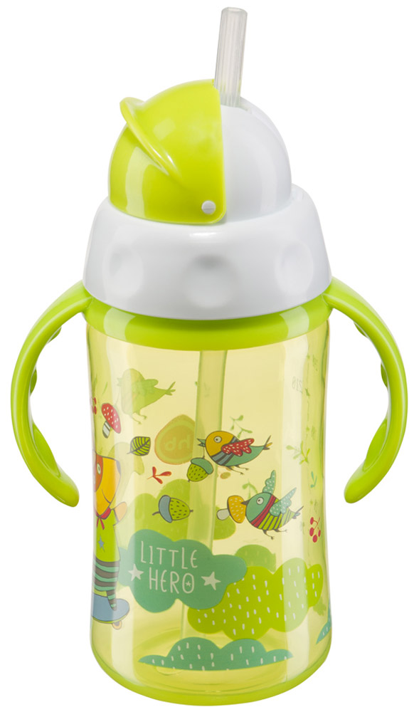 Happy Baby Бутылочка-поильник Cheese Fan с трубочкой от 12 месяцев цвет салатовый 240 мл cheese gallery