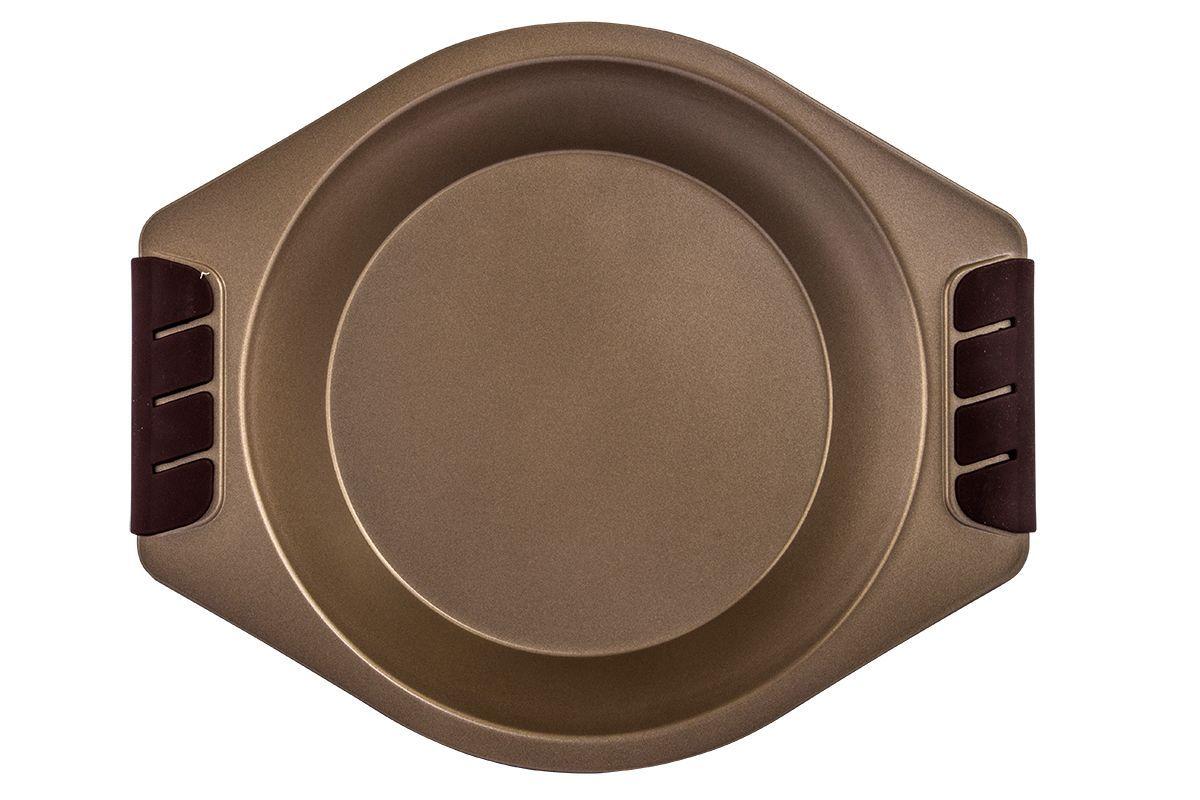 Форма для запекания Pomi d'Oro Spumante, с антипригарным покрытием, диаметр 22,5 см77.858@23652 / Q2313 SpumanteФорма для запекания Pomi dOro Spumante изготовлена из углеродистой стали с антипригарным покрытием. Такое покрытие позволяет готовить практически без использования масла, отличается хорошей стойкостью к внешним воздействиям и не деформируется при нагревании. Форма прекрасно подходит для приготовления любой выпечки, запеканок и прочих лакомств. Пища в такой форме не пригорает и не прилипает к стенкам. Форма станет полезным приобретением для вашей кухни и сделает приготовление любимых блюд намного проще. Размер формы: 22,5 х 22,5 х 3,6 см.