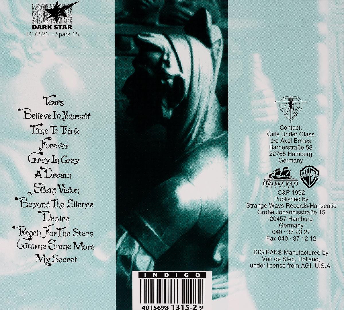 Girls Under Glass.  Darius Strange Ways Records,Волтэкс-инвест