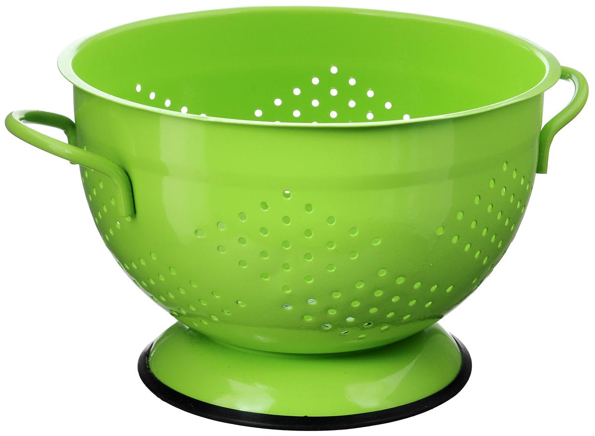 Дуршлаг Mayer & Boch, диаметр 25,5 см23529Дуршлаг Mayer&Boch, изготовленный из металла, станет полезным приобретением для вашейкухни. С внешней и внутренней стороны дуршлагпокрыт цветной эмалью. Он предназначен для отделения жидкости от твёрдых веществ,например, после варки макаронных изделий, круп,картофеля. Также дуршлаг используется для мытья и промывания ягод, грибов, мелких фруктови овощей. Дуршлаг оснащен устойчивымоснованием и удобными ручками по бокам. Диаметр дуршлага (по верхнему краю): 25,5 см Высота дуршлага: 16 см