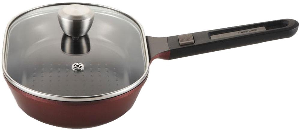 Сковорода для рыбы Frybest MyPan, со съемной ручкой, с крышкой, с керамическим покрытием. Диаметр 28 х 18 см