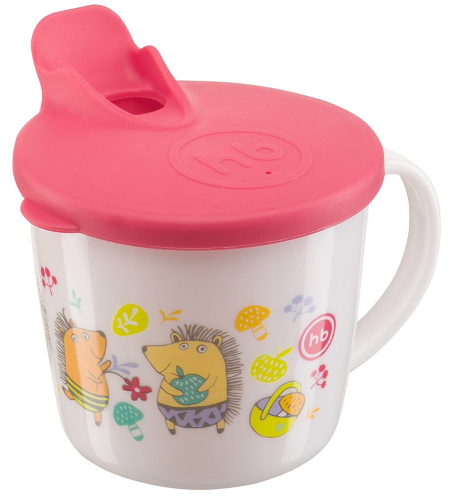 Happy Baby Чашка-поильник Ежики от 8 месяцев