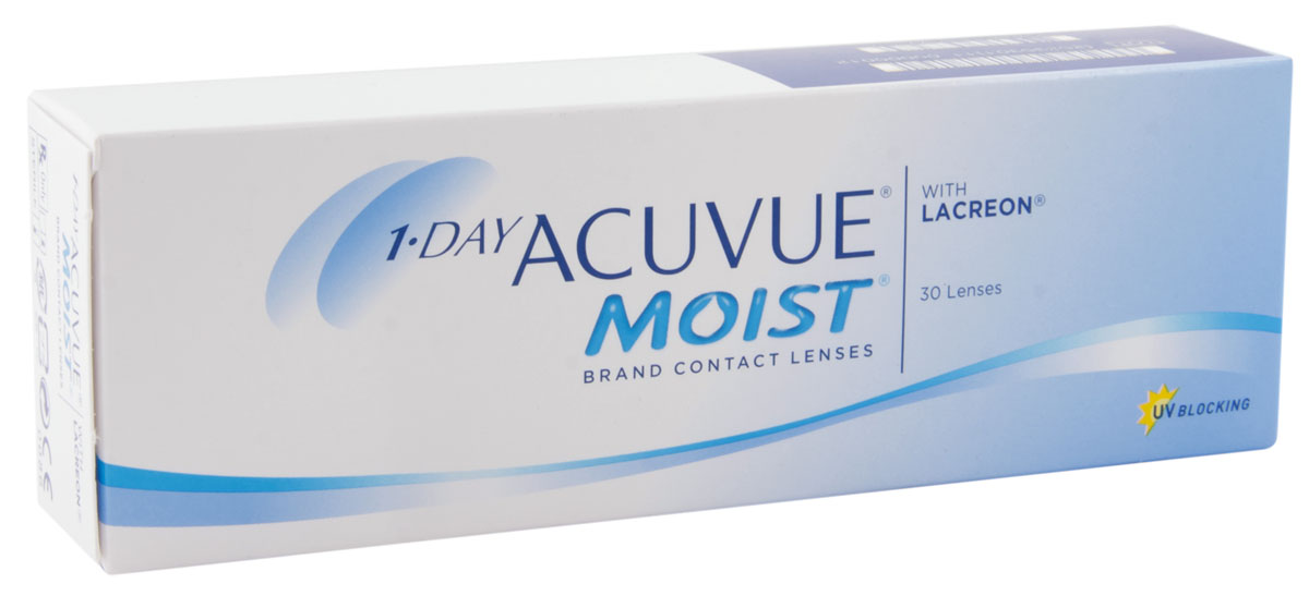 Johnson & Johnson контактные линзы 1-DAY Acuvue Moist 30 шт / 9.0 / - 6.50 контактные линзы 365 day контактные линзы 3 75 1 мес