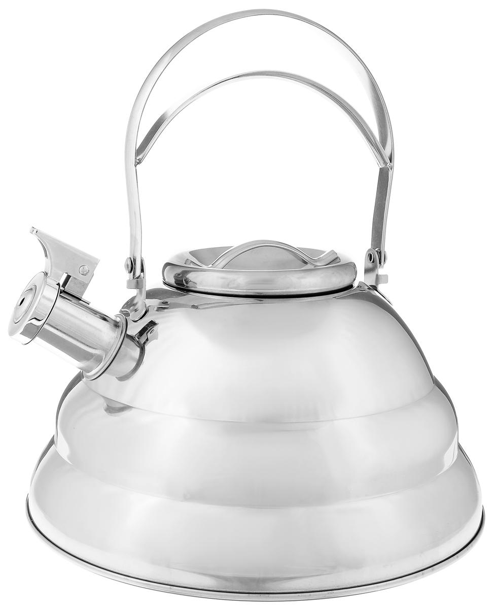 Чайник Mayer & Boch, со свистком, 3,2 л. 2417224172Чайник Mayer & Boch выполнен из долговечной и прочной нержавеющей стали, что делает его весьма гигиеничным и устойчивым к износу при длительном использовании. Гладкая и ровная поверхность существенно облегчает уход за посудой. Выполненный из качественных материалов чайник при кипячении сохраняет все полезные свойства воды. Изделие оснащено свистком, благодаря которому вы можете не беспокоиться о том, что закипевшая вода зальет плиту. Как только вода закипит - свисток оповестит вас об этом.Удобный и практичный чайник отлично впишется в интерьер любой кухни.Подходит для всех типов плит, включая индукционные. Можно мыть в посудомоечной машине..Высота чайника (без учета ручки и крышки): 13 см. Высота чайника (с учетом ручки и крышки): 24см. Диаметр основания: 24 см.Диаметр (по верхнему краю): 10 см.