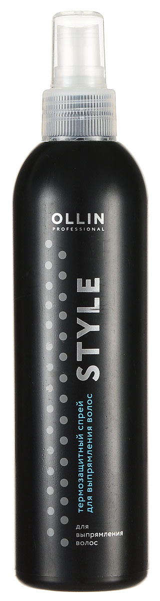 Ollin Термозащитный спрей для выпрямления волос Style Thermo Protective Hair Straightening Spray 250 мл 100 240v tourmaline ceramic hair straightener flat iron lcd display professional negative ion straightening irons styling tools
