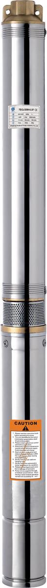 Скважинный насос Вихрь СН-6068/3/7Скважинный насос Вихрь СН-60 - это высокопроизводительный агрегат бытового назначения, который предназначен для подачи воды в здания, полива и орошения садов и клумб. Осуществляет интенсивную подачу с большой глубины (до 60 м). Рекомендуется использовать для перекачки чистой воды без примесей и песка. Изделие имеет корпус из нержавеющей стали, что значительно увеличивает срок службы и обеспечивает высокую ударопрочность. Насосная часть выполнена из латуни. В верхней части корпуса предусмотрены специальные кольца для крепления троса, что обеспечивает удобное погружение и извлечение насоса из скважины. Забор воды осуществляется посередине между двигателем и блоком импеллеров. Узкий корпус делает возможным использование в скважинах диаметром от 80 мм. Изделие удобно подключать благодаря длинному шнуру питания 17 м. Напряжение питания: 220/50 В/Гц. Степень защиты: IPX8. Полезная мощность: 800 Вт. Максимальная высота подъема воды: 60 м. Максимальная производительность: 50 л/мин. Максимальная температура воды: +35°С. Диаметр насоса: 75 мм. Диаметр выходного отверстия: 1 дюйм.
