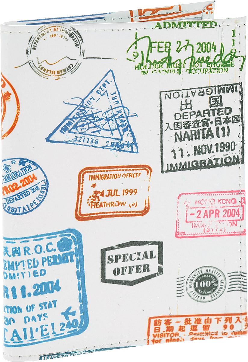 Обложка для паспорта Driver, цвет: белый, мультиколор. ВДОПК4